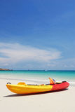 Kayak on the beach of samed island , thailand Royalty Free Stock Image