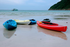 Kayak - Beach scenery Stock Photo