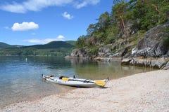Kayak. Beached Kayak - Sechelt Inlet - BC, Canada Royalty Free Stock Image