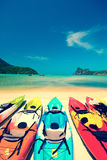 Kayak in beautiful beach in Thailand Stock Photography