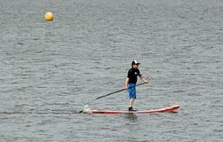 Kayak board rower Royalty Free Stock Photos