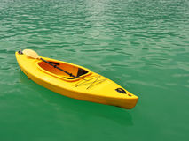 Kayak boat floating Stock Photos