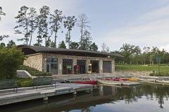 Kayak Boat House Stock Photo