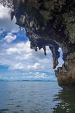 Kayak boat in Phang Nga Bay, Thailand. Kayak boat in Phang Nga Bay limestone cliffs, Thailand stock photos