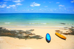 Kayak boat and sea Stock Image