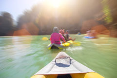 Kayak boat tourism. Select focus head of kayak boat tourism on ocean island floating Phuket Thailand Stock Photos