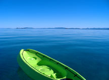 Kayak on calm Royalty Free Stock Photography