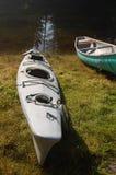 Kayak and Canoe. Weekend kayaking on Pitt Lake- Widgeon Creek - BC. July 2012 Royalty Free Stock Image