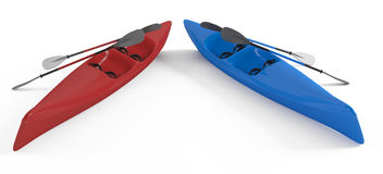 Kayak canoe isolated Royalty Free Stock Images