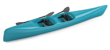 Kayak canoe isolated Stock Image