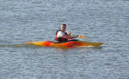 Kayak canoe rower Royalty Free Stock Photos