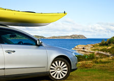 Kayak on a car Stock Images