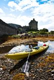 Kayak and castle Royalty Free Stock Photography