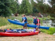 Kayak chargé Photographie stock libre de droits