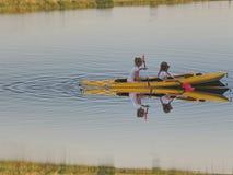 Kayak. With children Royalty Free Stock Photo