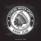 Kayak club. Vector illustration. Stock Images