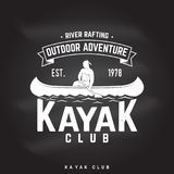 Kayak club. Vector illustration. Royalty Free Stock Images