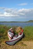 Kayak on the coast Royalty Free Stock Photography