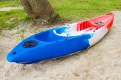 Kayak. Colorful Kayak on the beach stock images