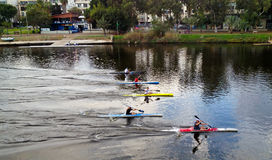 Kayak contest stock photography