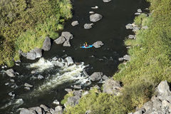 Kayak, Crooked River Gorge, Central Oregon Stock Photos