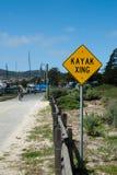 Kayak crossing Royalty Free Stock Image