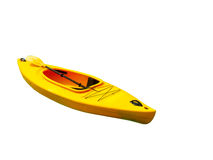 Kayak d'isolement sur le fond blanc Photo libre de droits