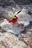 Kayak de l'eau blanche Image libre de droits