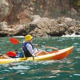 Kayak de mer Images libres de droits