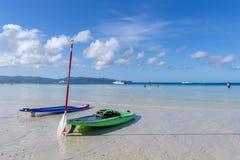 Kayak de nov. 19,2017 sur la plage blanche, Boracay Photos libres de droits