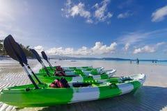 Kayak de nov. 19,2017 sur la plage blanche, Boracay Photos stock