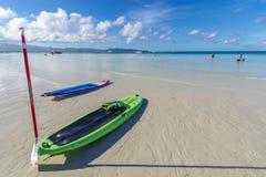 Kayak de nov. 19,2017 sur la plage blanche, Boracay Images stock