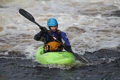 Kayak del fiume Fotografia Stock Libera da Diritti