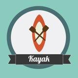 Kayak design Royalty Free Stock Photo