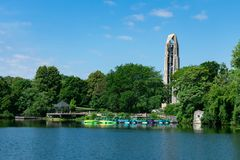 Free Kayak Dock Area At Quarry Lake In Naperville Illinois Near The Riverwalk Royalty Free Stock Photography - 157227687