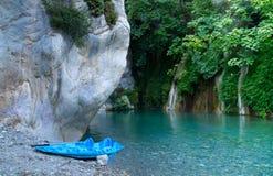 Kayak en canyon Photo stock