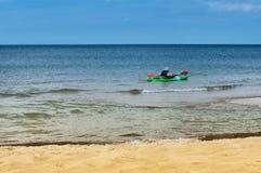 Kayak en mer Photo stock
