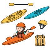 Kayak et accessoires Photo stock