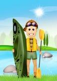 Kayak experience Stock Image