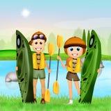 Kayak experience Stock Photo