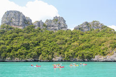 Kayak fahren Lizenzfreie Stockfotos