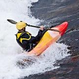 Kayak fahren Stockbild