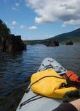 Kayak fahren Stockfoto