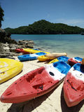 Kayak fahren und canoeing Lizenzfreies Stockbild
