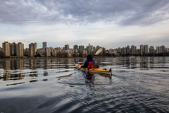 Kayak fahren in Vancouver Stockfoto