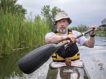Kayak fitness paddling Stock Image