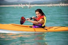 Free Kayak Girl Stock Image - 10076941