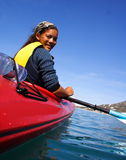 Kayak Girl Stock Photos