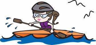 Kayak Girl Stock Images