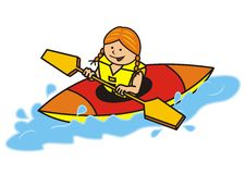 Kayak, girl Stock Photography
